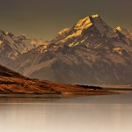 Sunset over Mount Cook, New Zealand